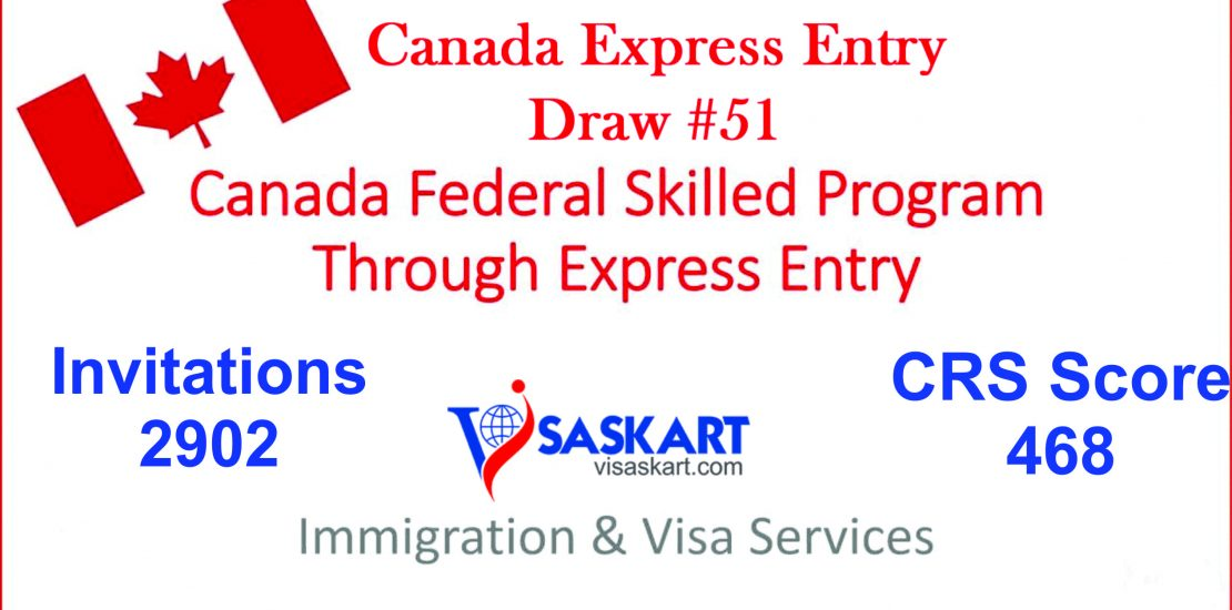 Canada Express Entry Draw #51, #51 Express Entry Draw